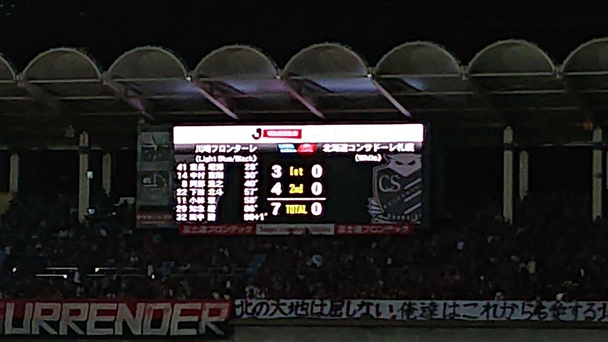 川崎vs札幌7-0圧勝!下田北斗初ゴール、田中碧初出場初得点!7得点全員違うお祭り騒ぎ!