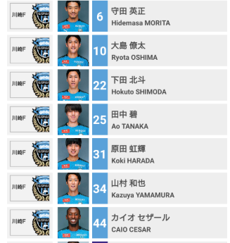 川崎でDMFできる選手