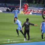 脇坂泰斗(わきざかやすと)がJ1デビュー!珍しく緊張してパスミスも5分で8回のスプリントはさすが!
