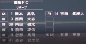東京ヴェルディvs愛媛FC、愛媛のリザーブ